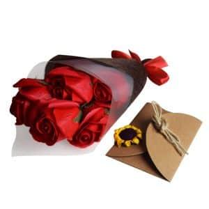 bouquet de roses savon