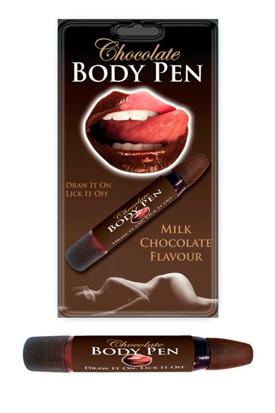 crayon chocolat comestible pour écirre sur le corps