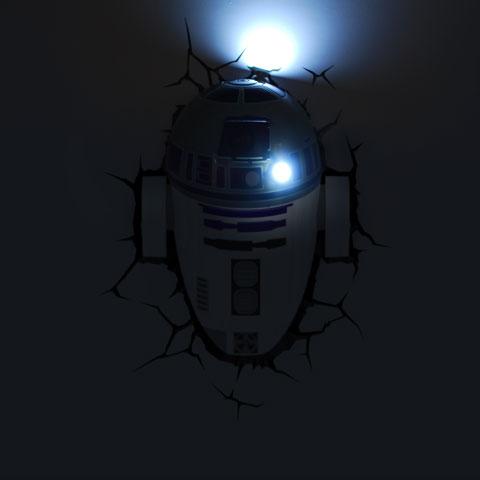 Lampe R2-D2 murale Star Wars