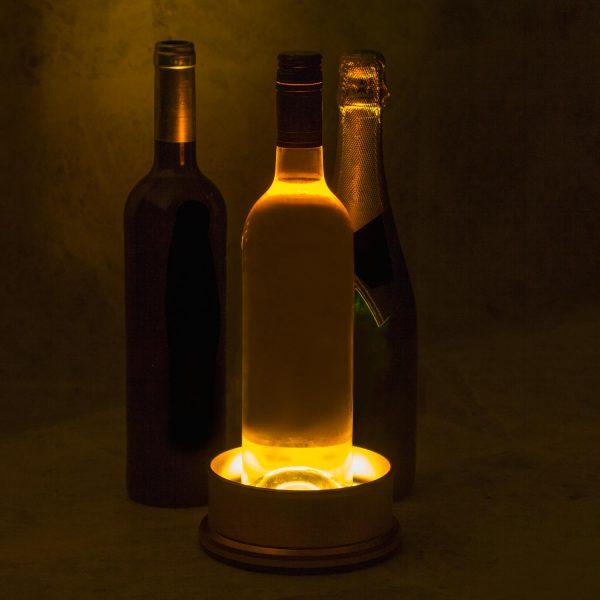 Support de bouteille lumineux