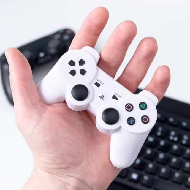 antistress manette playstation blanche