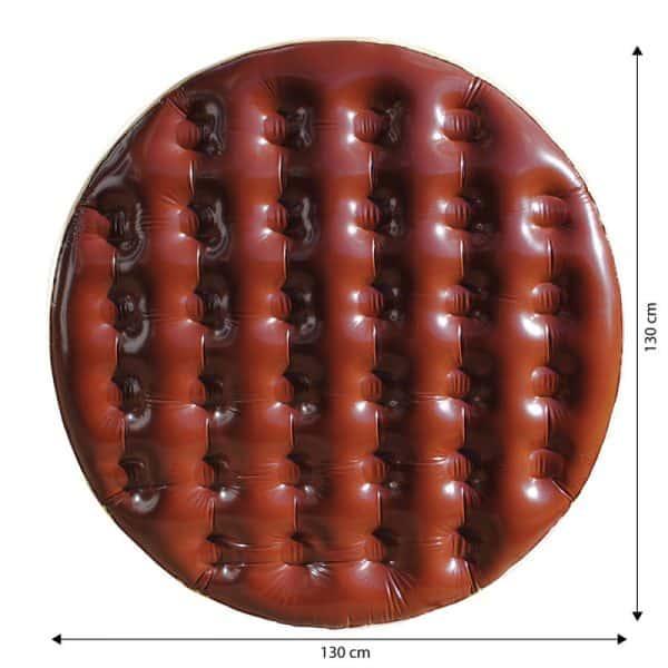 matelas gonflable gateau au chocolat dimensions