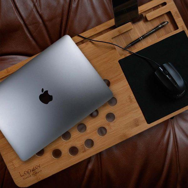 support en bois ordinateur