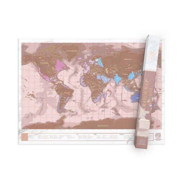 carte-monde-gratter-rose-doré (2)