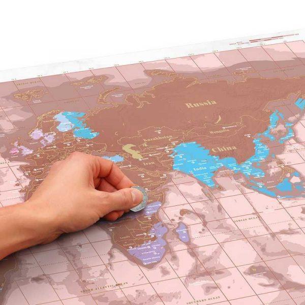 carte-monde-gratter-rose-doré (3)