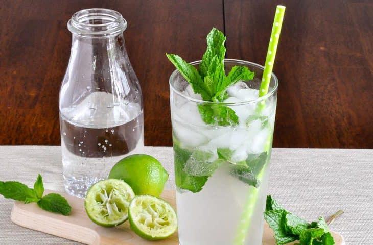 set cocktail mojito