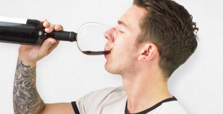 Verre bouteille vin