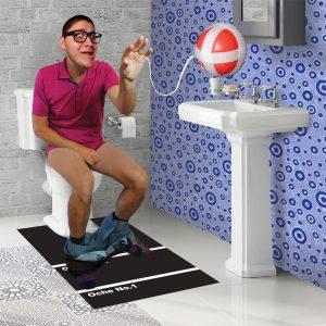 jeu de fléchette pour les toilettes
