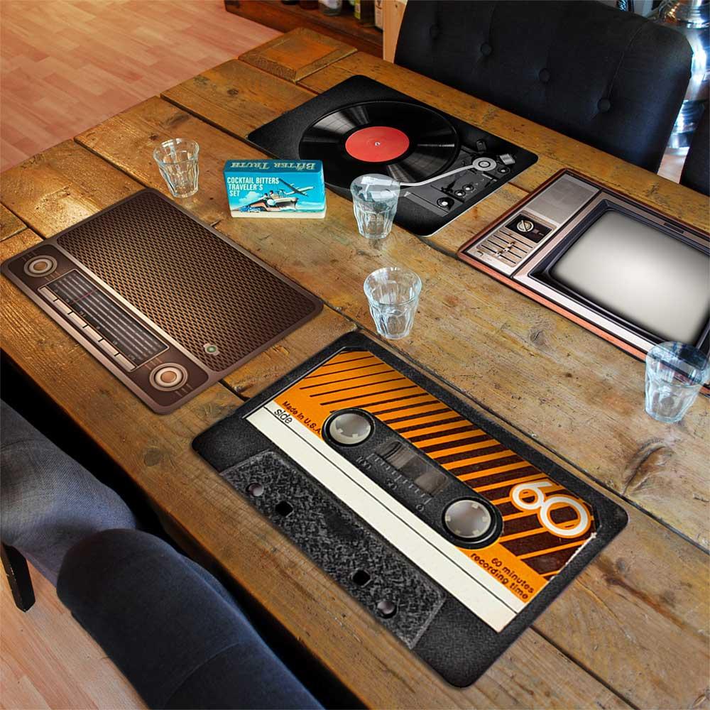 set de table rétro