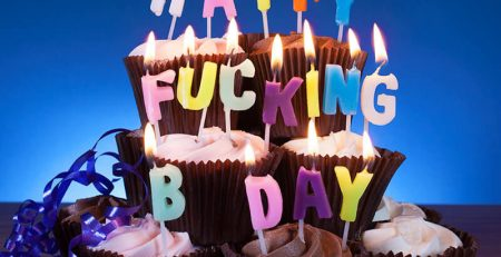 bougies d'anniversaire Happy Fucking Birthday