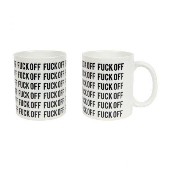 mug fuck off noir et blanc