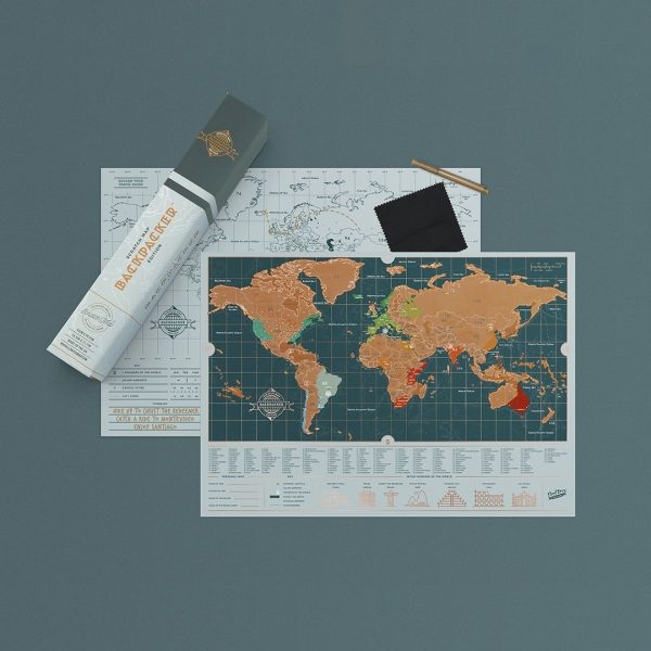 carte du monde à gratter backpacker édition