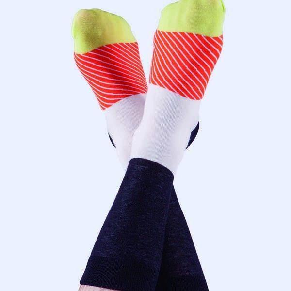 chaussettes maki saumon