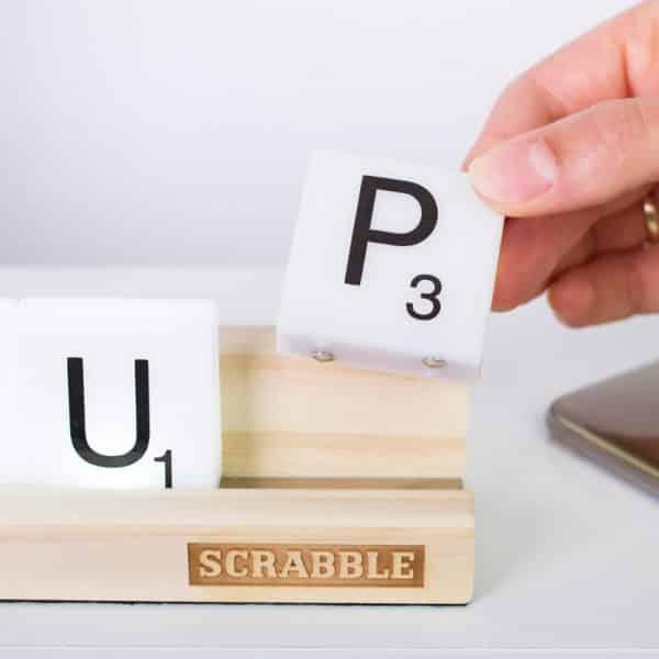 lampe déco Scrabble