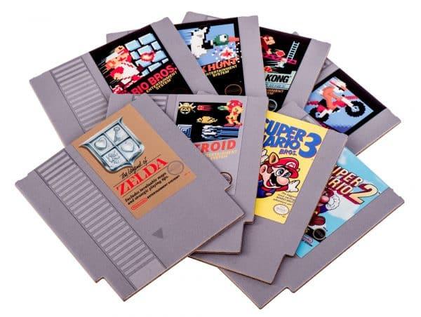 sous-verres cartouche de jeux Nintendo NES