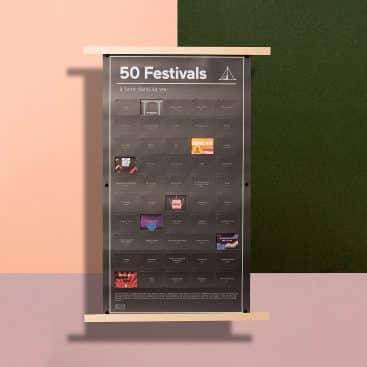 poster 50 festivals de musique à faire