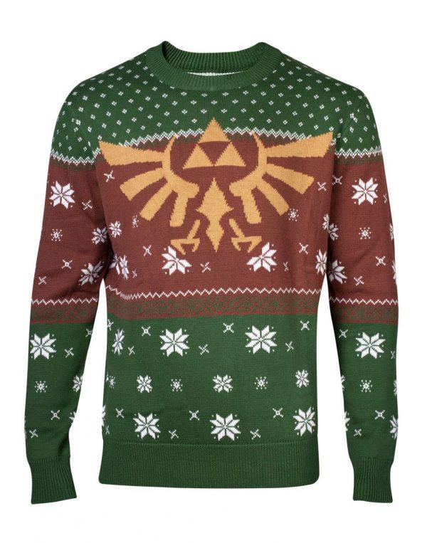 pull de noel Zelda Triforce doré