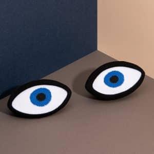 chaussettes oeil bleu