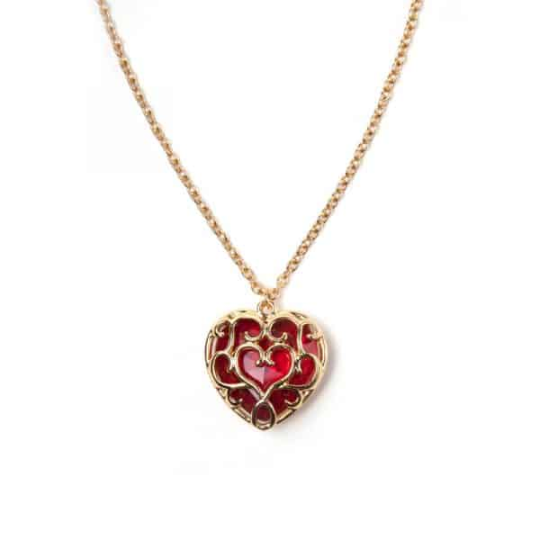 collier et pendentif collecteur coeur Zelda
