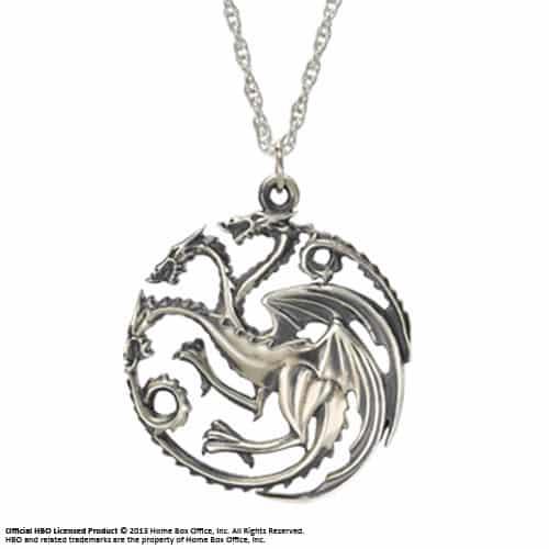 collier et pendentif Game of Thrones Targaryen