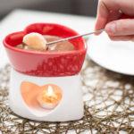 fondue chocolat coeur