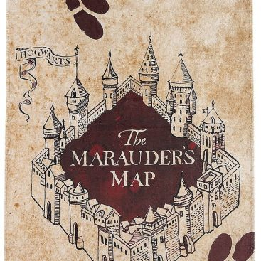 Serviette de bain Harry Potter la carte du Marauder