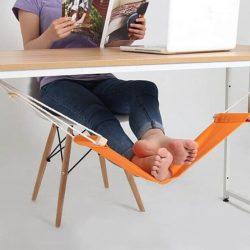 Hamac de pied à placer sous le bureau