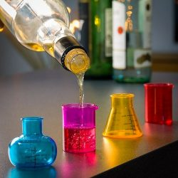 verres shooters chimiste