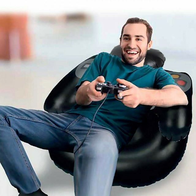fauteuil gonflable manette de jeu