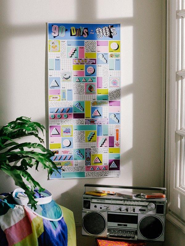 affiche à gratter années 90