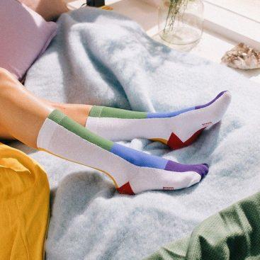 chaussettes arc-en-ciel