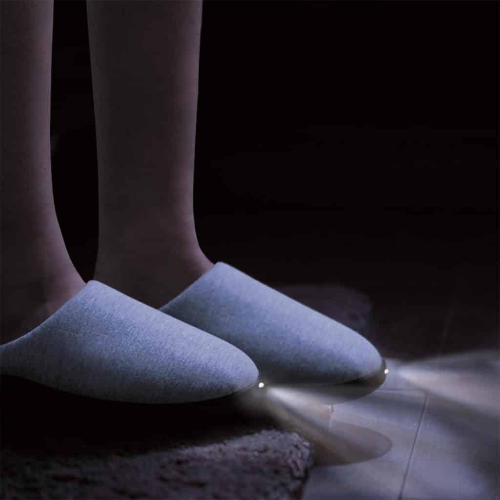 chaussons lumineux