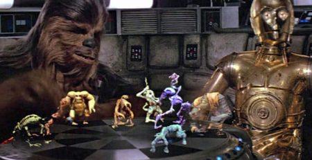 jeu echec hologramme Star Wars