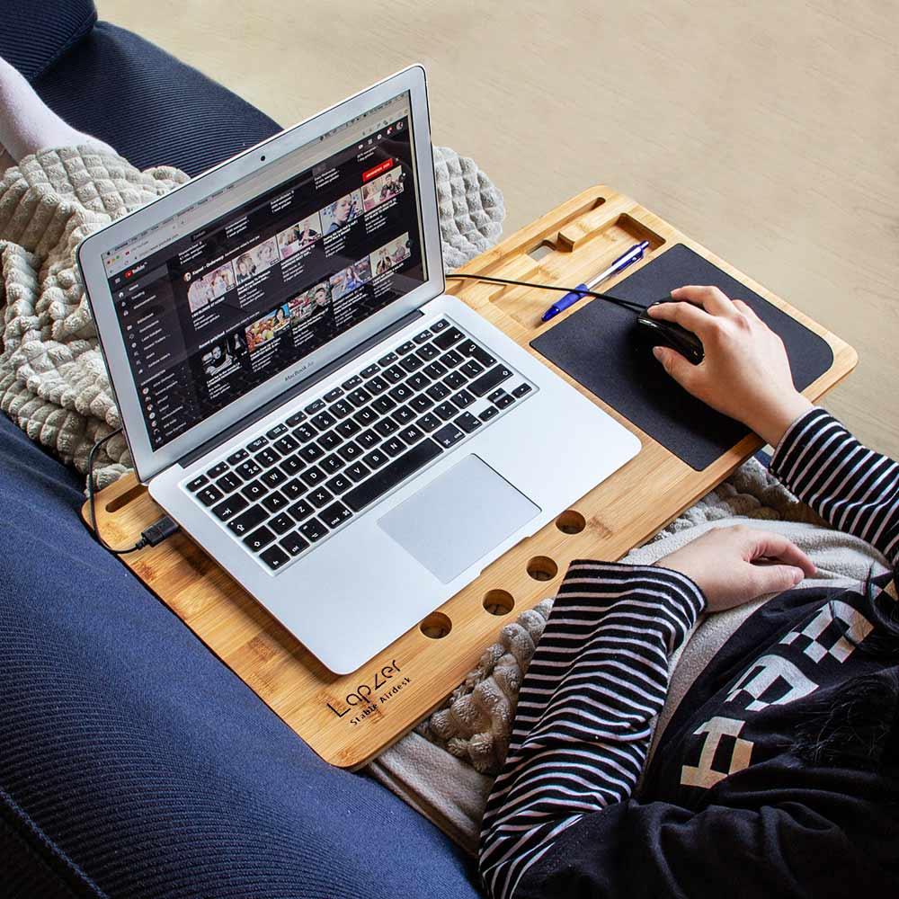 support ordinateur pour canapé
