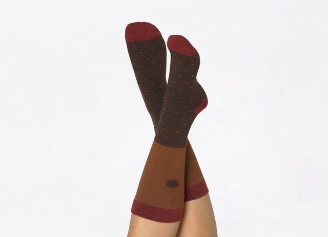 chaussettes seins noir