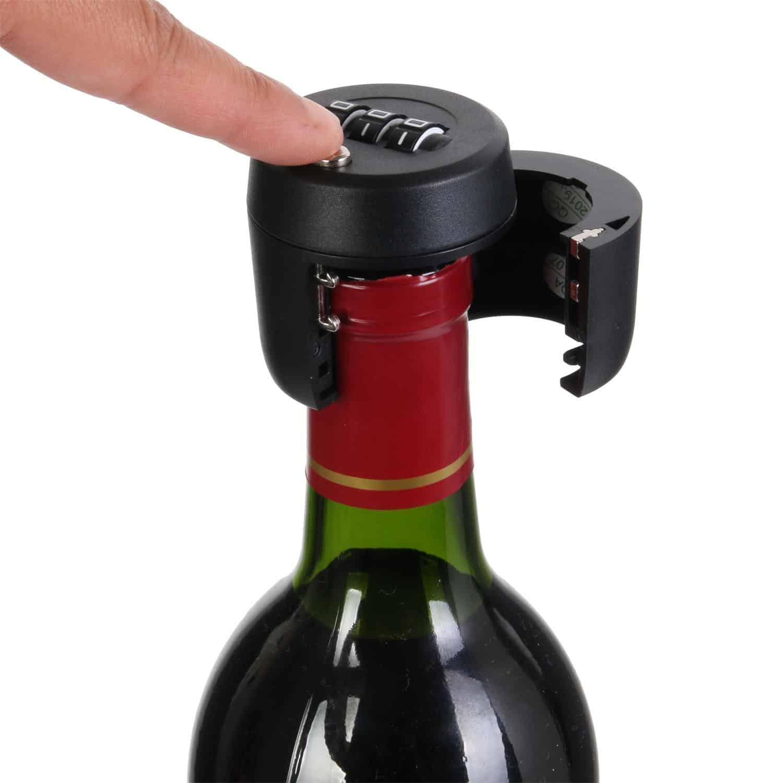 cadenas anti vol bouteille de vin