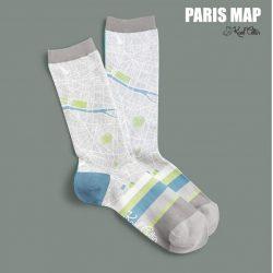 chaussettes plan de Paris