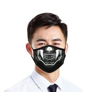 masque visage insolite squelette