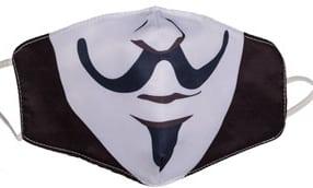 masque tissu insolite anonymous