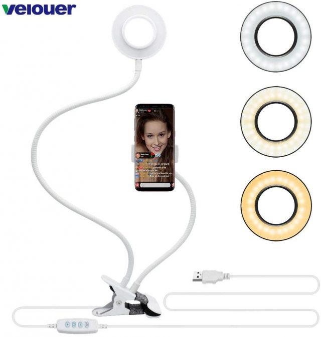 support et lampe vidéo smartphone