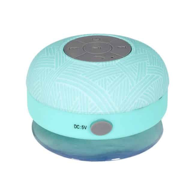 haut-parleur douche bleu