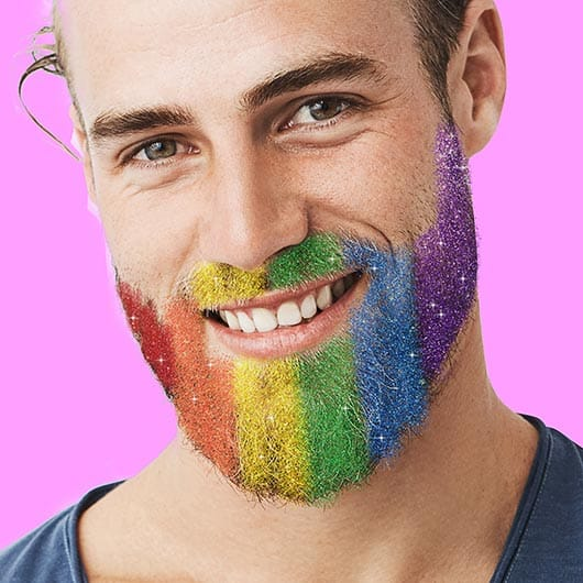 paillettes pour barbe