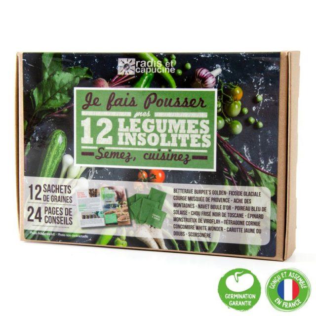 coffret 12 légumes insolites à faire pousser