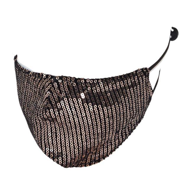 masque sequin cuivre