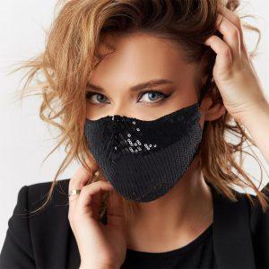 masque sequin noir