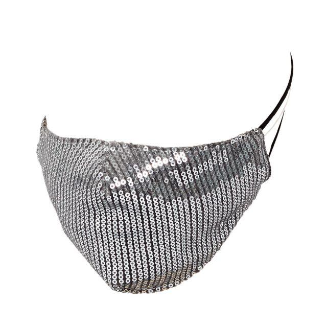masque sequin gris