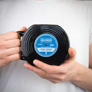 mug disque vinyle