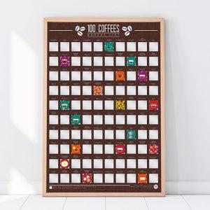 poster 100 cafés à goûter avant de mourir