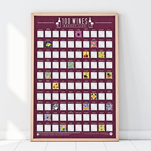 poster 100 vins à goûter