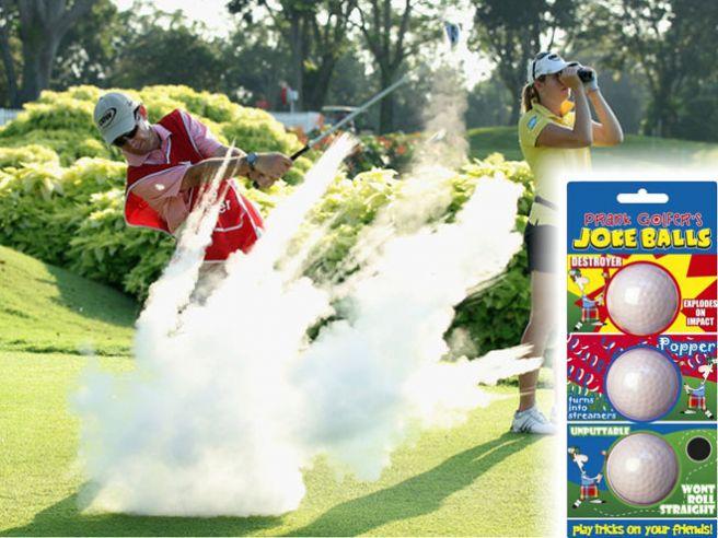 balles de golf explosives